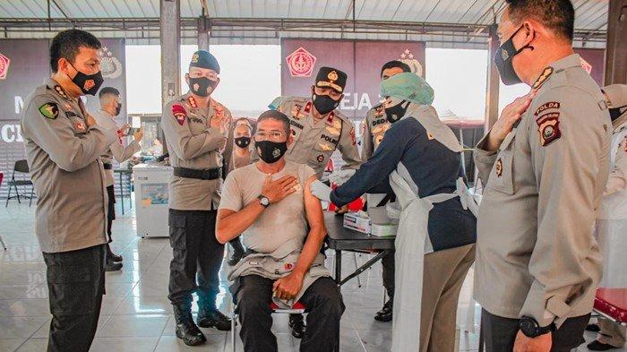 Kapolda Pantau Personel Polda Sumsel, Siap Disuntik Vaksin Covid-19 di Makosat Brimob
