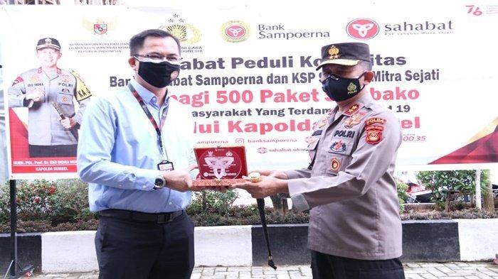 Bank Sahabat Sampoerna Palembang Salurkan Bantuan Sembako ke Polda Sumsel, Disalurkan ke Masyarakat