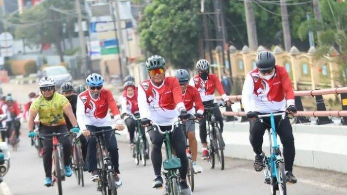 KAPOLDA Sumsel dan Pangdam II/SWJ Gowes Bareng Keliling Kota Palembang, Jarak Tempuh 7,7 KM