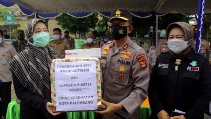 Polda Sumsel Berikan Bantuan 4000 Rapid Antigen untuk Dinkes Kota Palembang