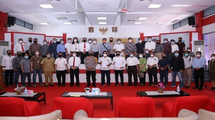 Kapolda Sumsel Hadiri Penandatangan Kontrak PT Telkom Witel Sumsel & 28 Perusahaan Perkebunan Sawit