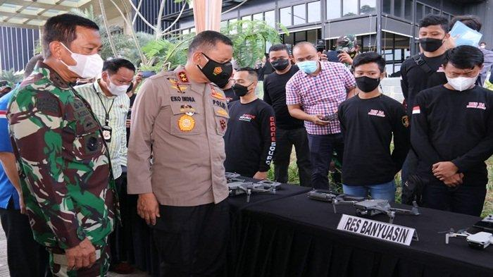 Kapolda Sumsel Kukuhkan Drone Squard Karhutla dan Pelatihan Operator Songket