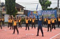 Kapolda Sumsel Gelar Olahraga Bersama dengan Personel Polres Muba dan Bhayangkari
