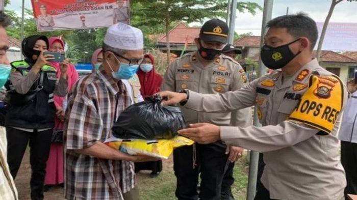 Polres Ogan Ilir Lanjutkan Program Berbagi Selama Masa Pandemi