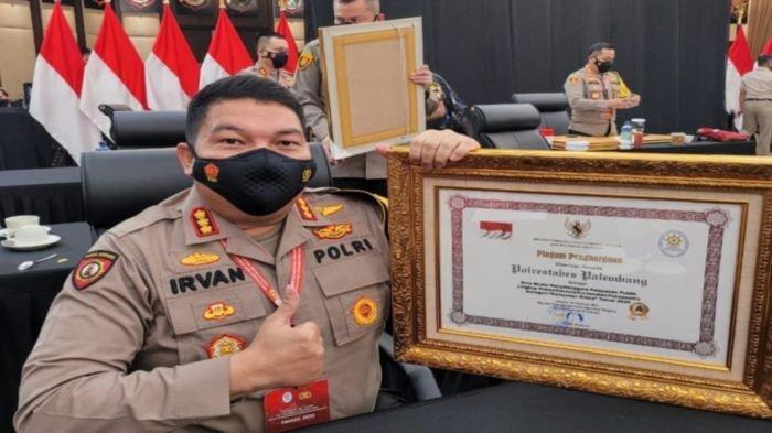 Polrestabes Palembang Dapatkan Penghargaan Kategori Pelayanan Prima Terbaik, Ini Pesan Kapolri