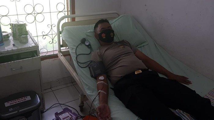 Kapolsek Baturaja Timur Donorkan Darah untuk Bulin Kekurangan Darah