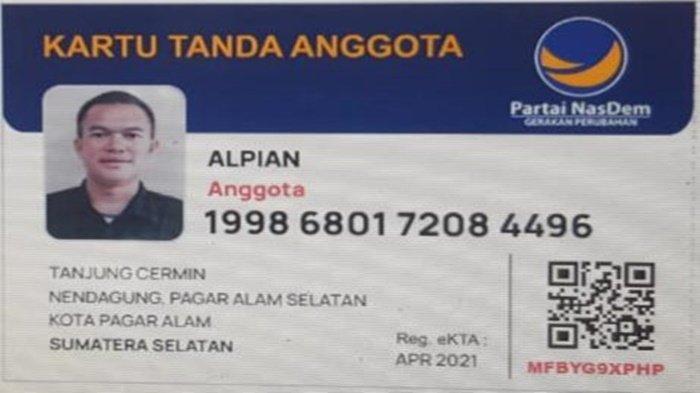 Walikota Pagaralam Alpian Resmi Jadi Kader Nasdem : Saya dari Arsenal Pindah ke Manchester United