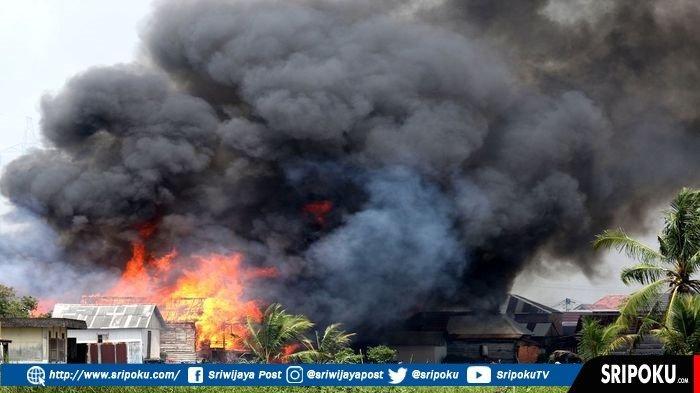 Kebakaran di Sungki Kertapati Palembang Ratusan Rumah Ludes, Sempat Terdengar Suara Ledakan 3 Kali