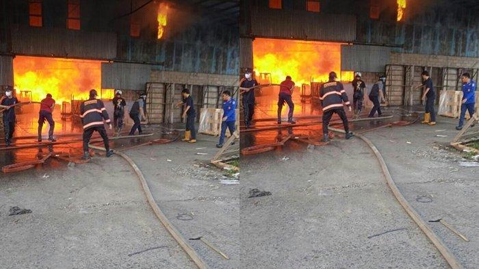 BREAKING NEWS: Kebakaran di Palembang, Ada Kabar Salah Satu Perusahaan di Sematang Borang Terbakar