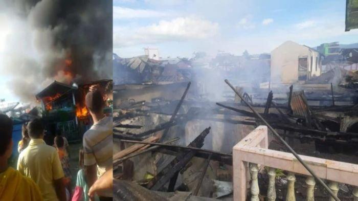 8 Rumah di Tebat Giri Indah Pagaralam Ludes Terbakar, Pasutri Ini Lihat Api Muncul dari Lantai 2