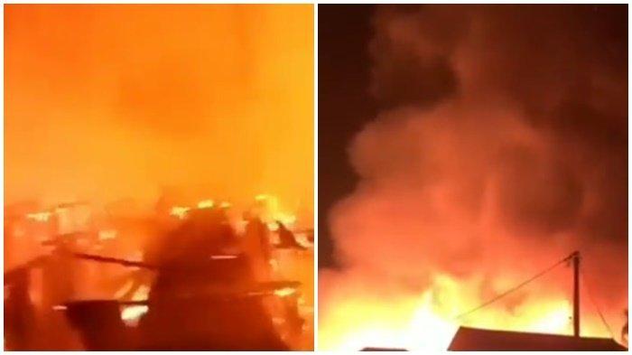 BREAKING NEWS : Api Membara Bakar Rumah Kayu, Dinihari Tadi di Pulau Seribu, Tulung Selapan OKI