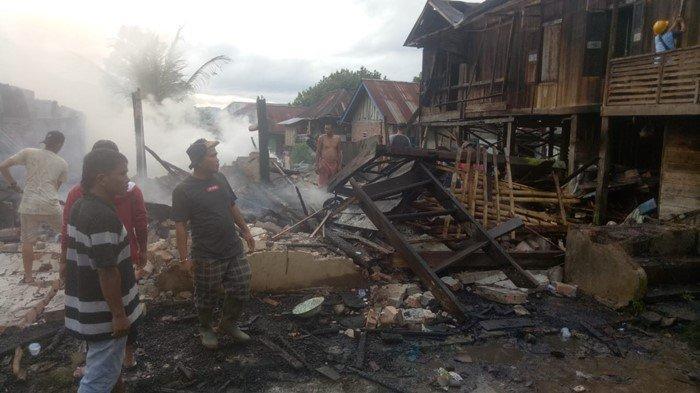 Kondisi kebakaran di Desa Rantau Kasai, Kabupaten Empat Lawang Sabtu (03/04/2021) sore.
