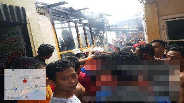 Kebakaran di IT 2 Palembang, Rumah Seorang Juru Parkir Ludes Dilalap Api