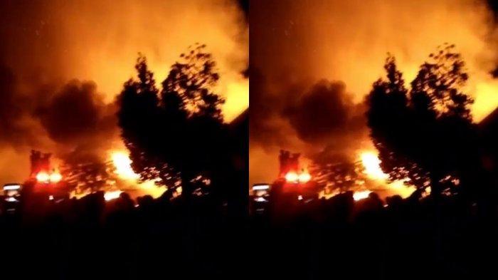 Kebakaran di Kenten Laut Jalan Aguscik Hanguskan 4 Rumah, Dikabarkan Ada Korban