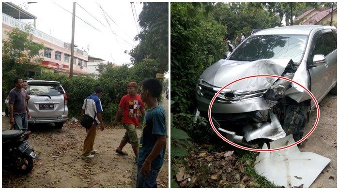 BREAKING NEWS: Kecelakaan di Simpang BLK Kenten, Avanza Ringsek Berat Usai Seruduk Pickup!