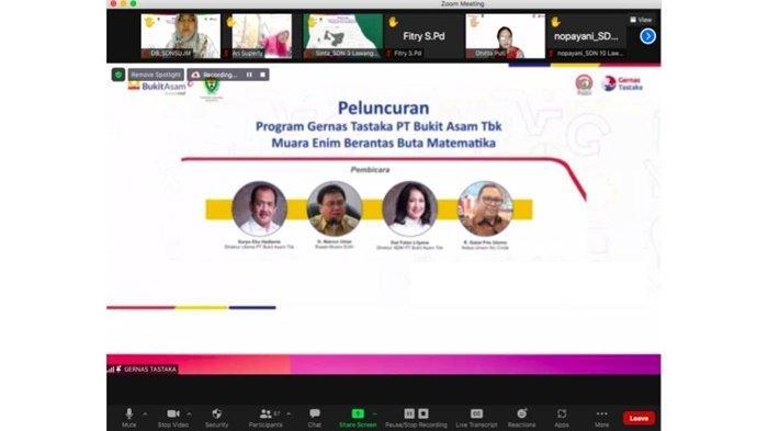 Bukit Asam Dukung Gerakan Nasional Pemberantasan Buta Literasi & Matematika