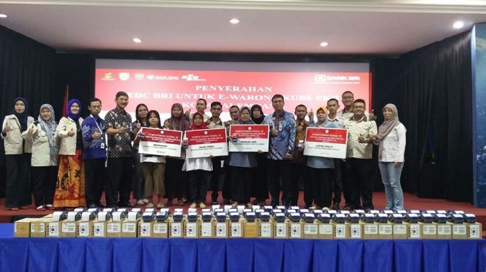 BRI Support Penyaluran Program BPNT, Sediakan 88 EDC untuk E Warong Kota Palembang