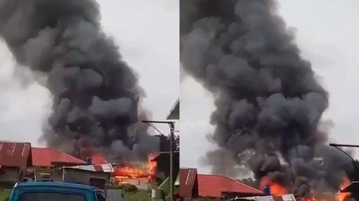 SENIN Pagi, Seberang Ulu dan Ilir Membara, Asap Hitam Membumbung Tinggi: Warga Panik Kocar-kacir