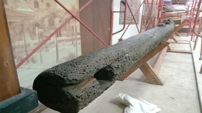 Kemudi Kapal Seberat 2 Ton Diduga dari Masa Kerajaan Sriwijaya Dihibahkan ke Museum Balaputra Dewa