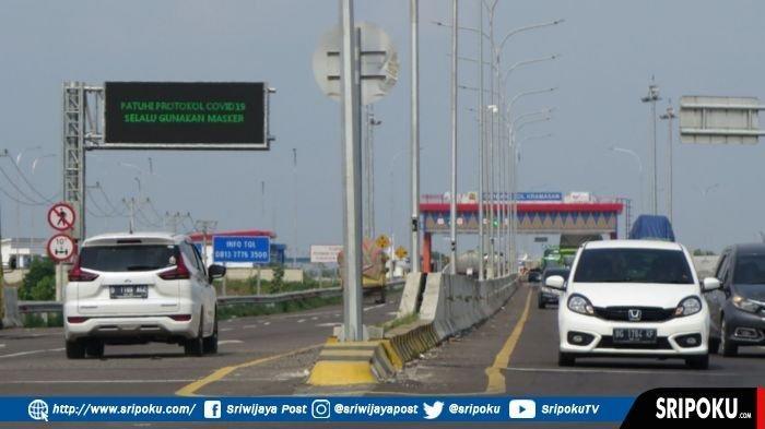 Jelang Idul Fitri 1442 H, Setiap Hari 8.000 Kendaraan Melintas di Jalan Tol Kayuagung-Palembang