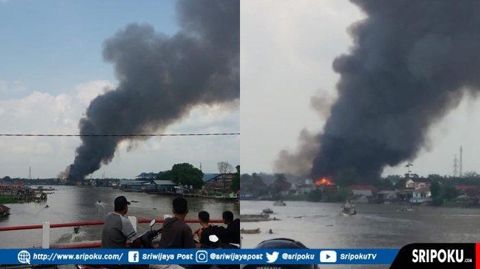BREAKING NEWS : Terjadi Kebakaran di Palembang, Kepulan Asap Membumbung Tinggi di Sungki Kertapati