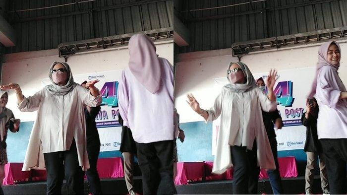 Begini Keseruan HUT Sriwijaya Post ke-34, Lagu Pamer Bojo Bikin Ibu Pemred Tak Tahan untuk Beraksi