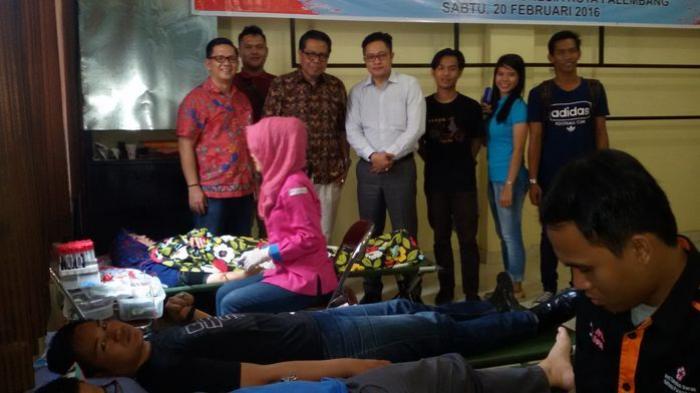 Peradi Palembang Gandeng FH Unitas Gelar Donor Darah
