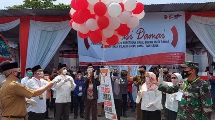 Paslon dan Parpol Pengusung Ikrarkan Pilkada Damai di KPU Musirawas, Siap Menang dan Siap Kalah