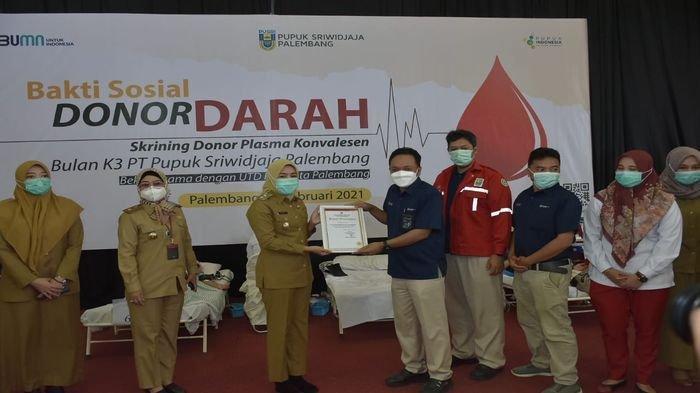PT Pusri Palembang Adakan Bakti Sosial Skrining Donor Plasma Konvalesen dan Donor Darah