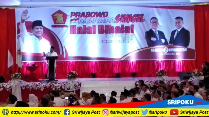 Prabowo Minta Para Kader Partai Gerindra dan Simpatisan untuk Memenangkan Aswari