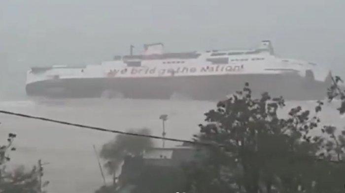 VIDEO, Saat-saat KMP Jatra I Hilang di Lautan, Dahsyatnya Badai Tenggelamkan Kapal