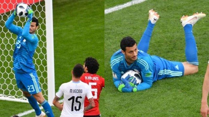 Kiper Muslim Ini Tolak Penghargaan Pemain Terbaik Di Pertandingan Uruguay Vs Mesir, Ini Alasannya