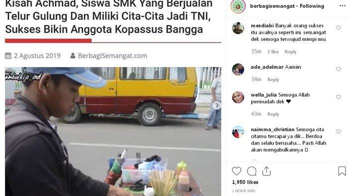 Viral Foto Siswa SMK yang Berjualan Telur Gulung Demi Meraih Cita-cita Jadi Seorang Anggota TNI!