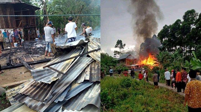 Kebakaran di OKU Selatan Paksa Enam Anggota Keluarga Mengungsi, Api Sempat Sambar Rumah Tetangga