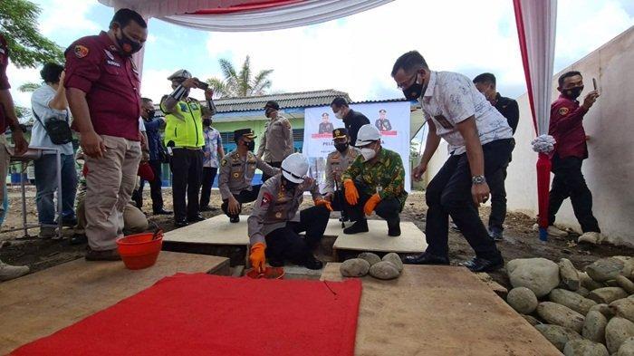Kapolda Sumsel Letakkan Batu Pertama Tanda Pembangunan Klinik Polres Lubuklingau