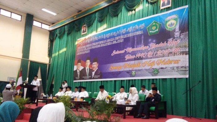 Giliran Kloter 19 Embarkasi Palembang Rombongan Terakhir Jemaah Haji Sumsel Diterbangkan