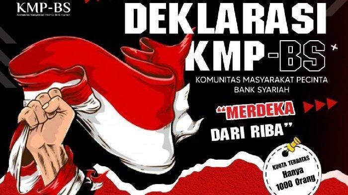 Merdeka dari Riba, KMP-BS Dorong Masyarakat Cintai Bank Syariah