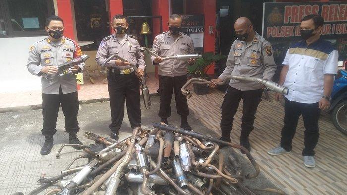 113 Knalpot Racing Disita Polsek IT I Palembang, Selanjutnya Akan Dimusnahkan