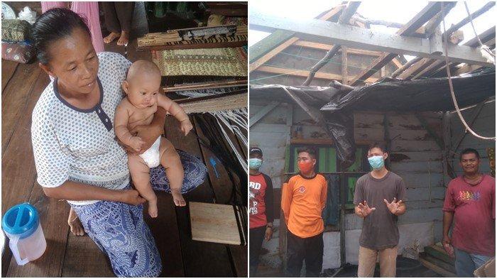 Atap Melayang, Uli Lari Gendong Cucu: Puluhan Rumah di Indralaya Rusak Diterjang Angin Kencang