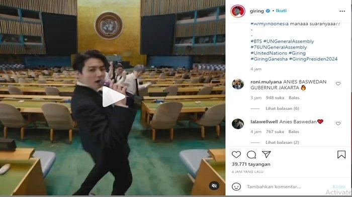 Tangkapan layar komentar di unggahan akun Instagram Giring Ganesha