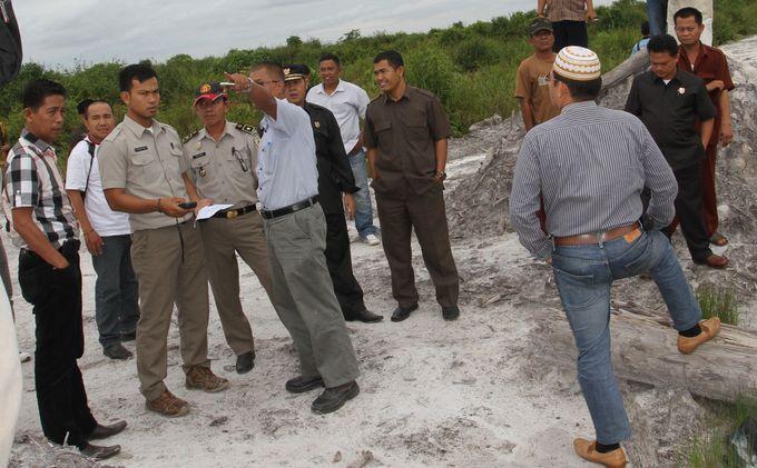 Komisi II DPRD Muba Tinjau Lahan PT Inti Agro Makmur