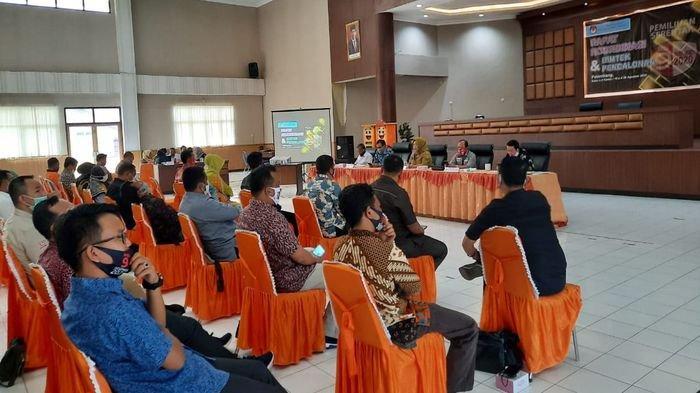 KPU Musirawas Ikuti Rakor dan Bimtek Pencalonan pada Pemilihan Serentak Tahun 2020 di KPU Sumsel