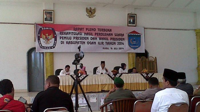 KPUD Ogan Ilir Gelar Pleno Rekapitulasi