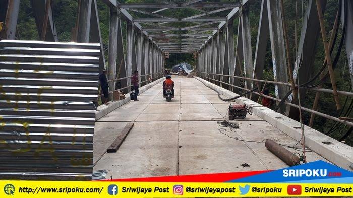1 September 2018, Jembatan Endikat Pagaralam Bisa Dilewati Semua Jenis Kendaraan