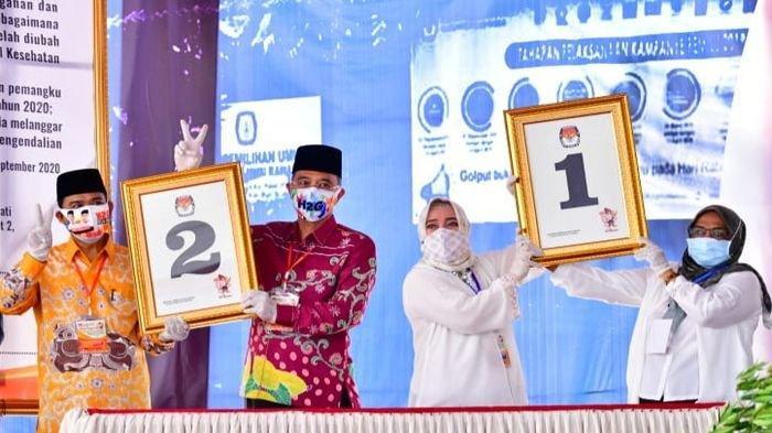 KPU Musirawas Tetapkan Nomor Urut Paslon Pilkada, Ratna-Suwarti 1 dan Hendra-Mulyana 2