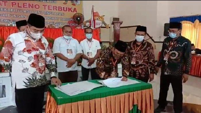 Hasil Pleno KPU OKU untuk Pilkada 2020, Kuryana dan Johan Raih 63,08 Persen Suara