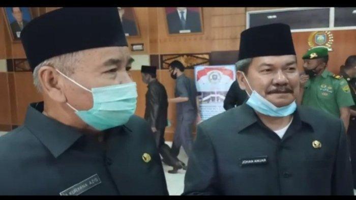 Pasangan Calon Bupati  dan Wakil  Bupati OKU, Drs H Kuryana Azis dan Drs Johan Anuar SH MM