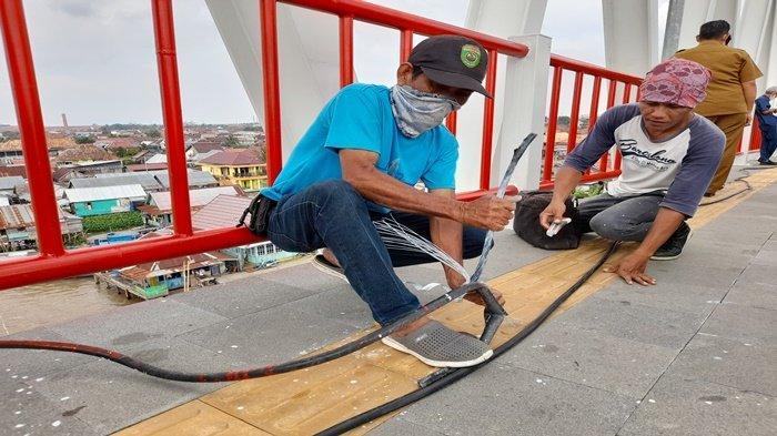 Baru Diresmikan 2 Bulan, Kabel di Jembatan Musi VI Hilang Dicuri, Bakal Dipasang CCTV