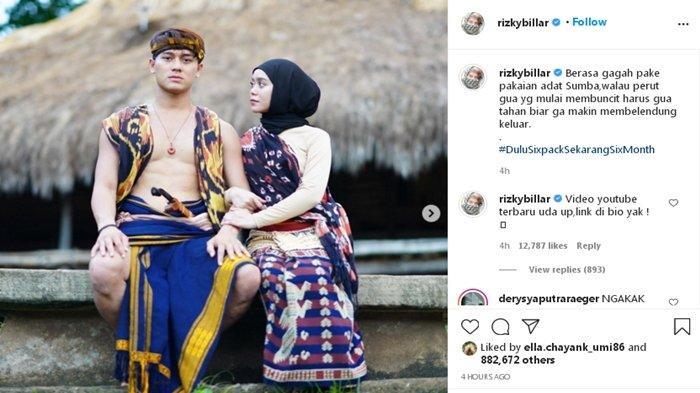 Rizky Billar dan Lesty Kejora