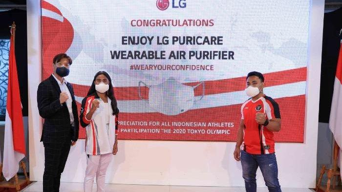 Bagikan LG PuriCare Wearable Air Purifier ke Atlet Indonesia Kelas Dunia